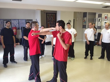 Sifu Alex Richter teaching Wing Tsun at Alamo City Wing Tsun in San Antonio, Texas